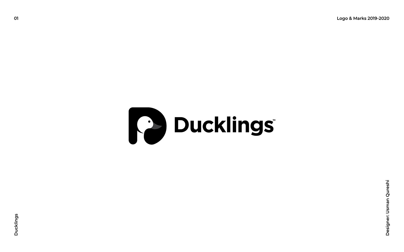 duck in a negative space in D a logo design for sucklings