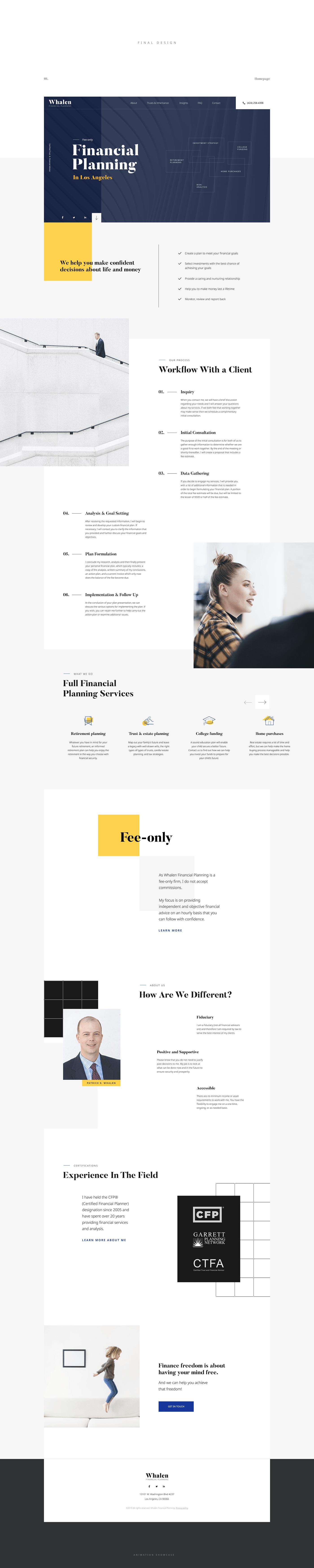 finance Web Design  UI ux minimal clean interactive design ostellar corporate company