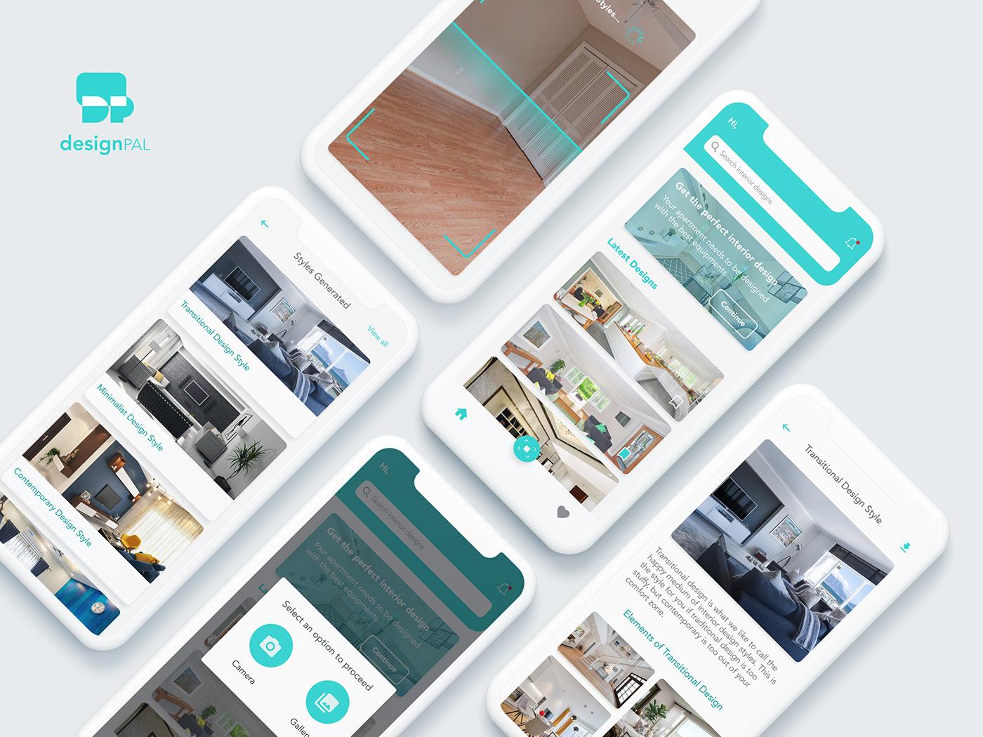 AR Design Interaction design  interior design  interior design app product design  ui design UX design
