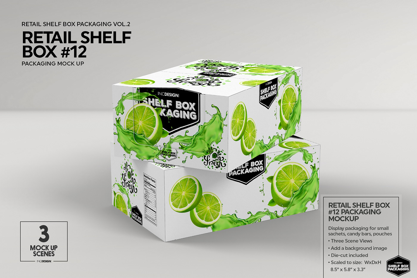Mockup Template Retail Shelf Box Packaging Vol 02 On Behance
