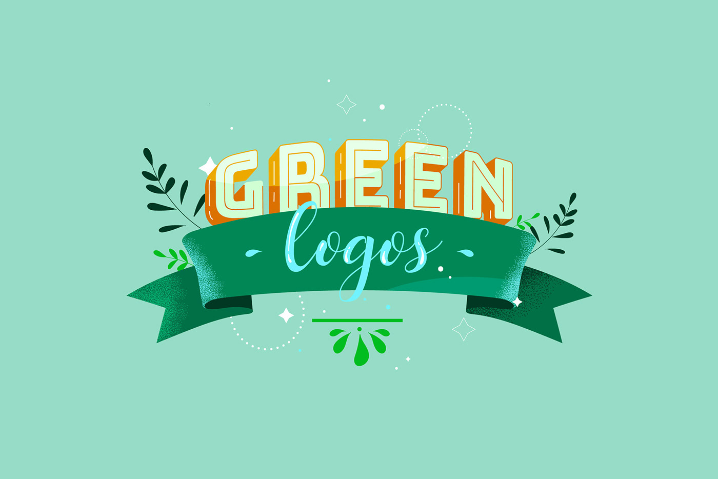 article Blog Character colorful flat ILLUSTRATION  IT renderforest texture typography