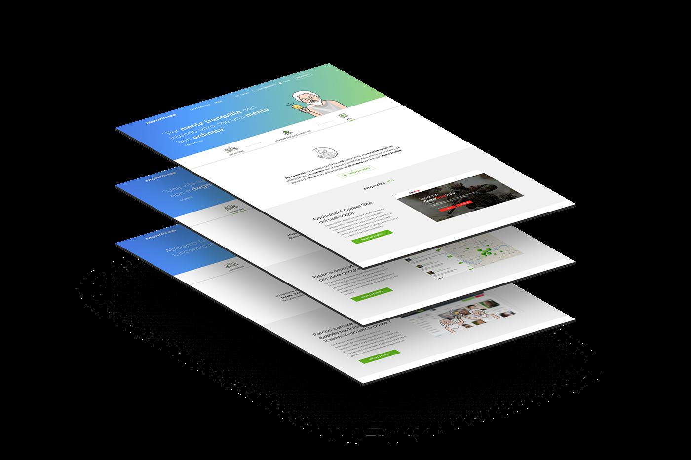 landing ILLUSTRATION  sketchapp UI design