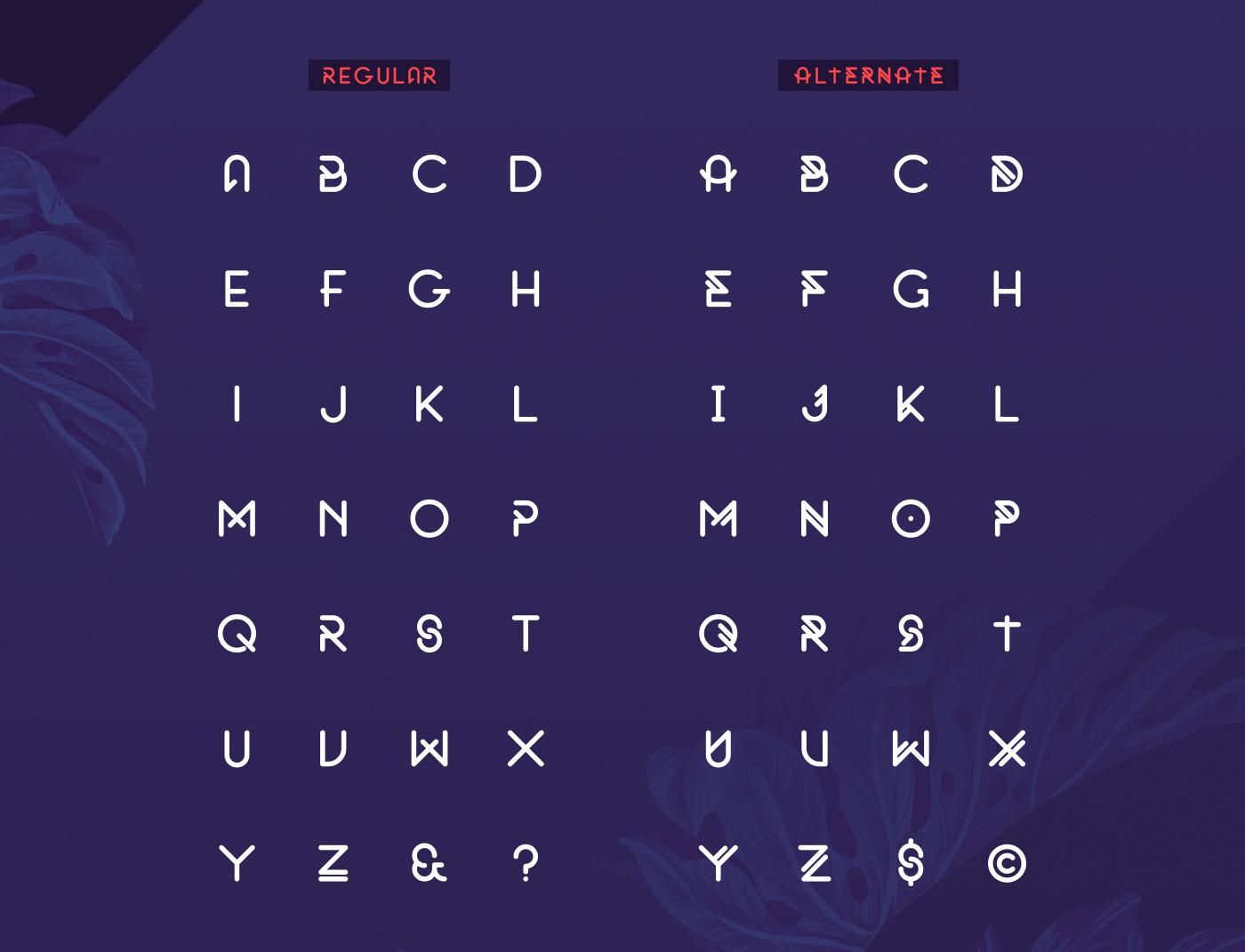 free font Typeface bold rounded alternate