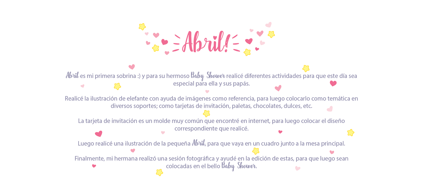 Baby Shower Abril On Behance