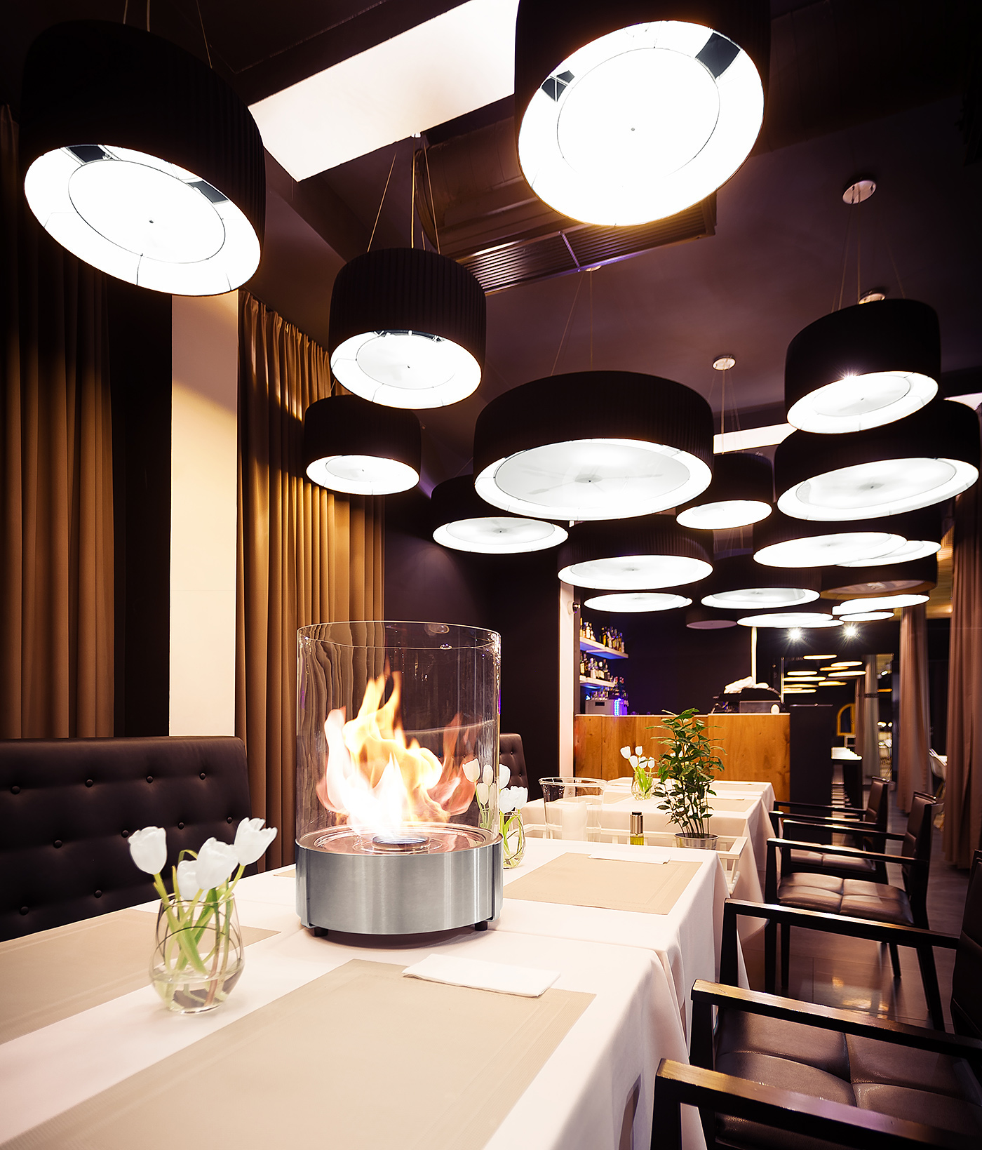 fireplaces Planika restaurant hotel Spa zen bar kumi studio kugi Simple Commerce fire line automatic