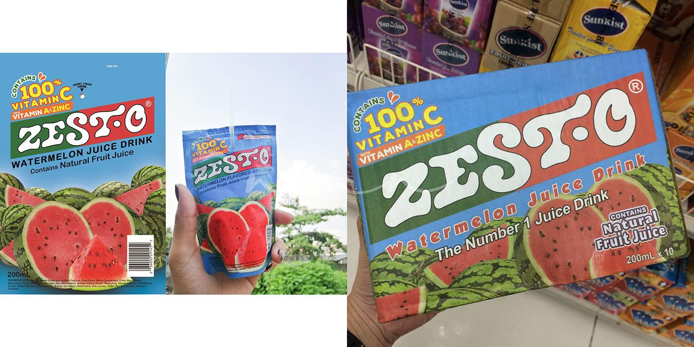 pouch philippines box NICOLEMNERI DESIGNS Orange Juice Packaging ready to drink Watermelon Juice Zest-O ZEST-O JUICE DRINK