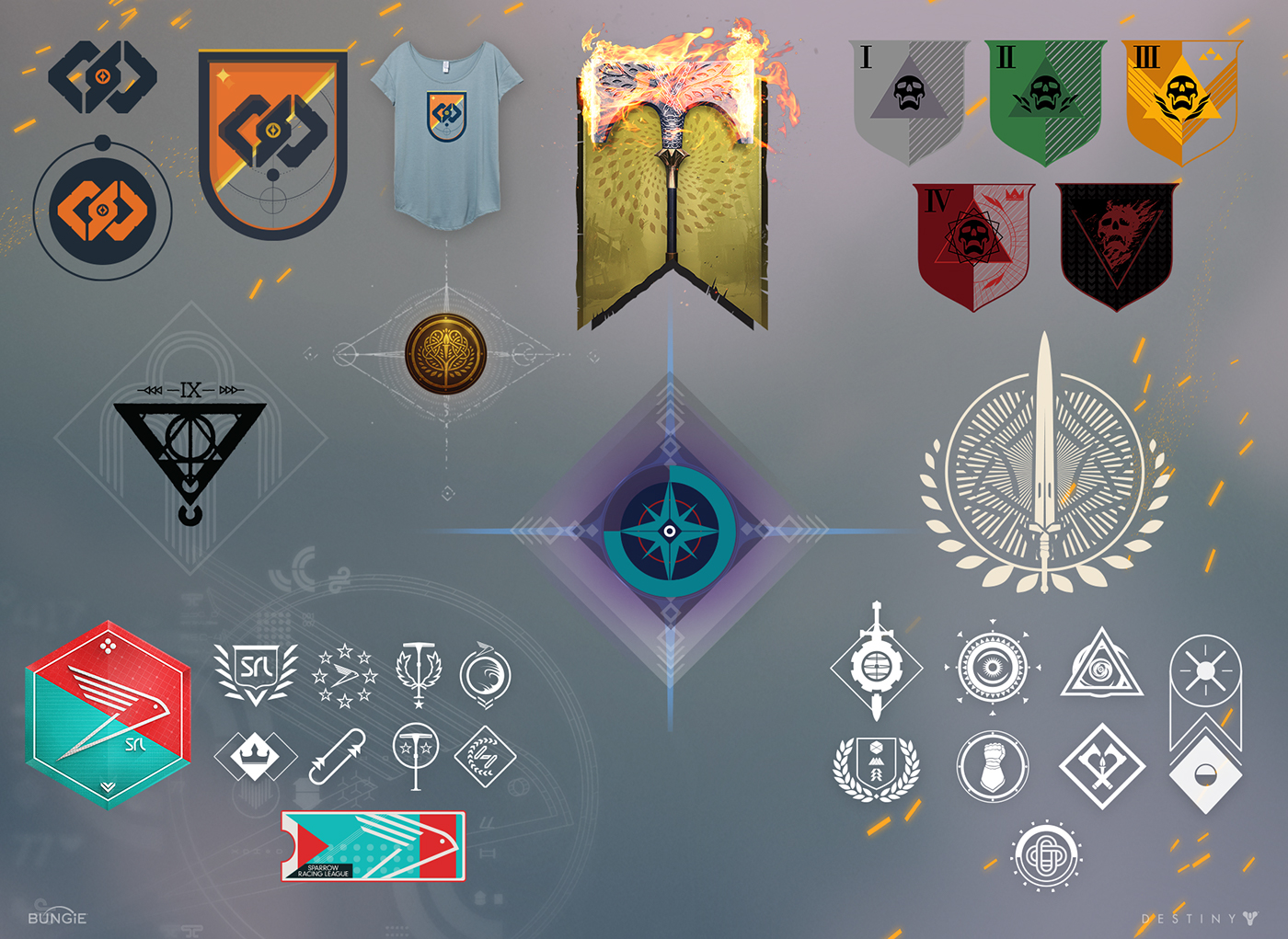destiny Bungie activision Video Games The Taken King user interface playstation xbox visual design iconography