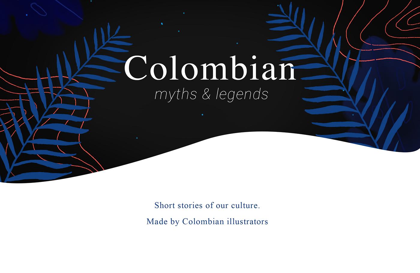 colombia myth legend mitos ILLUSTRATION  Latin culture LatinAmerica book