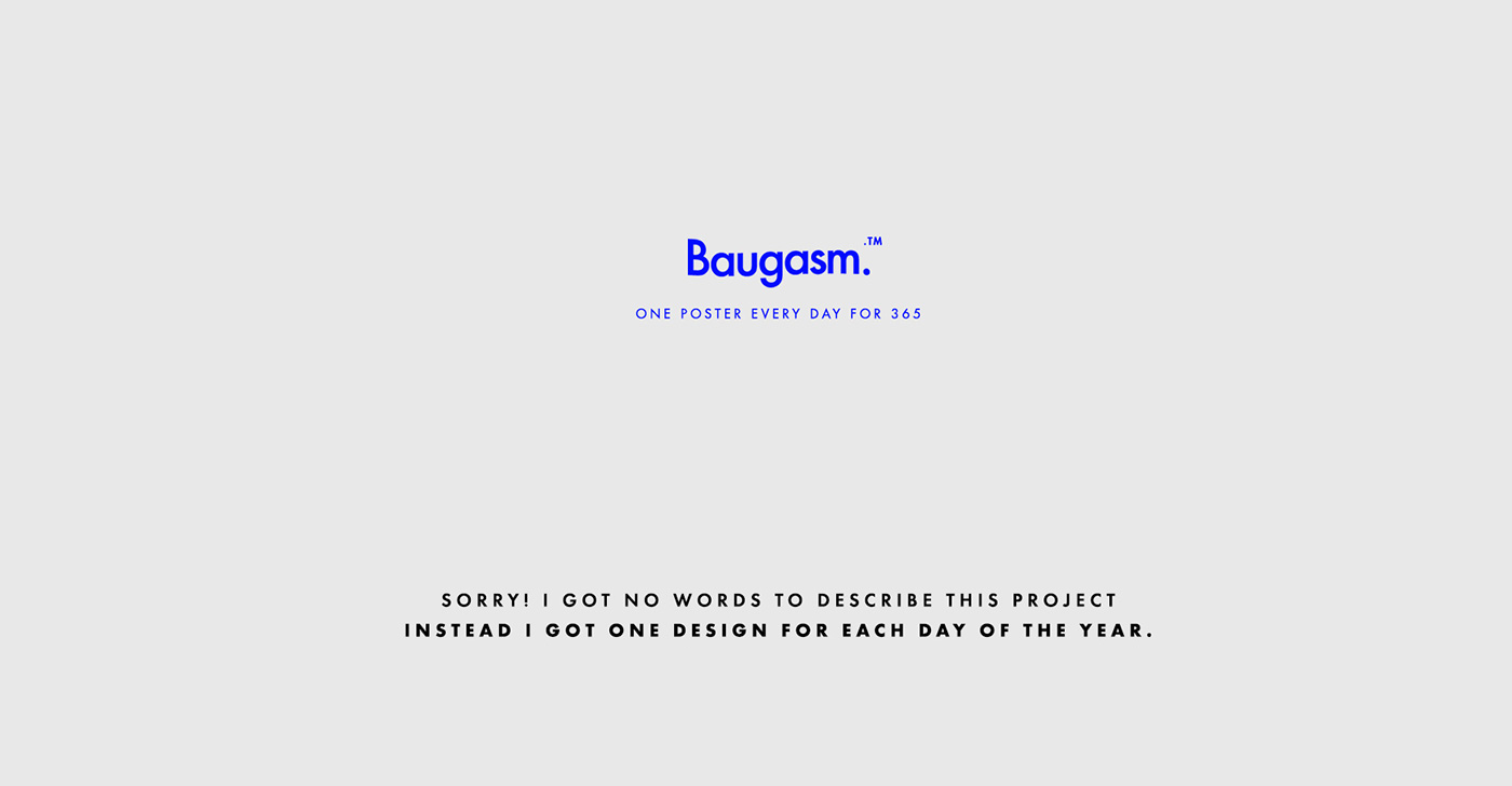 Baugasm poster graphic design  every day poster a day everyday design Daily Challange music posters Event Poster gradient