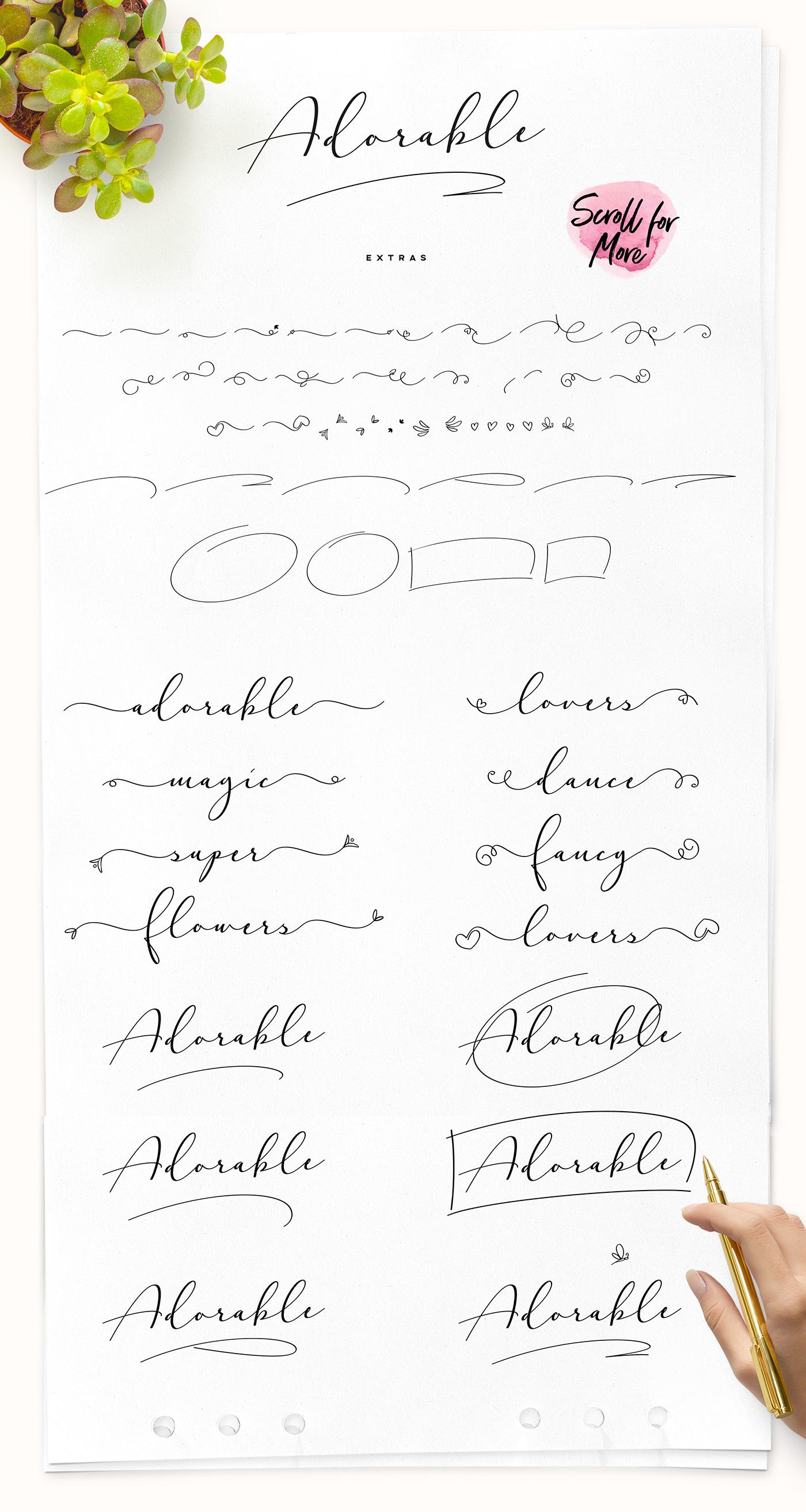 Download Adorable Handwritten Script Font