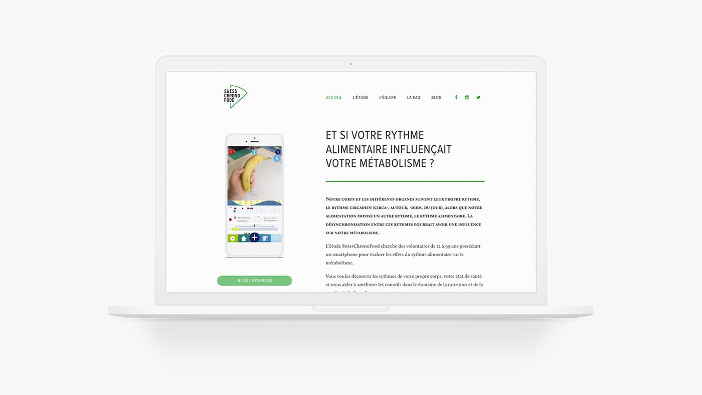 homepage of Swisschronofood website
