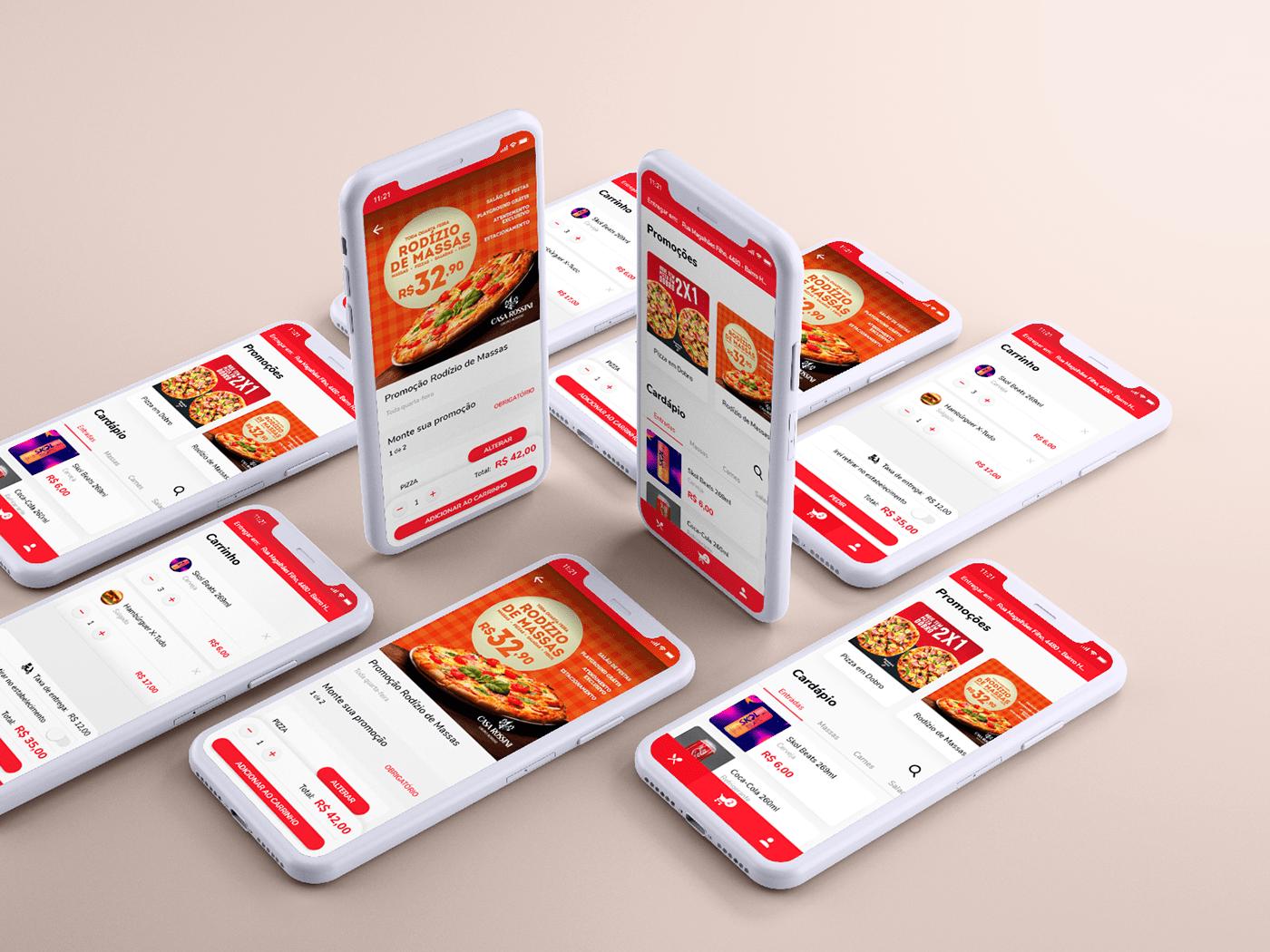 app delivery design Food  mobile UI ux