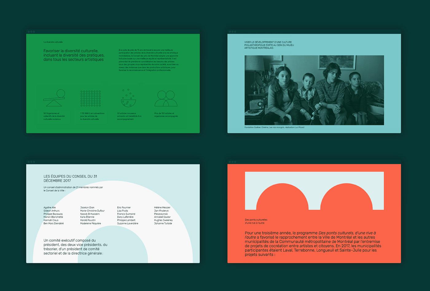 annual report Website typography   Web Design  colors grid Minimalism data visualisation infographics minimalist