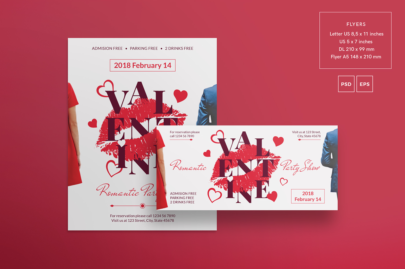 valentine s day modern and creative design templates on behance