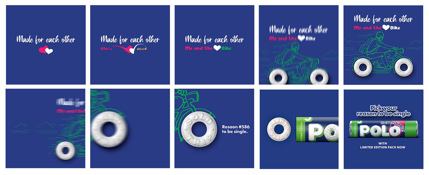 animation  concept cool nestle Nestlē Polo polo valentine day