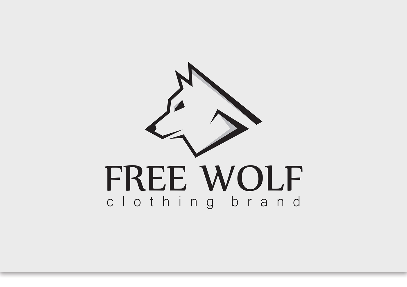 logotype for free wolf clothing brand on behance