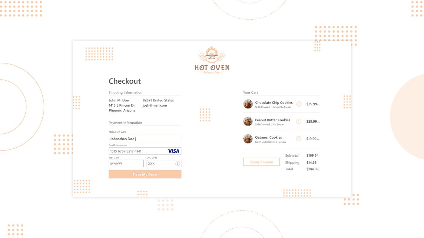 Web Design  DailyUI xd design eCommerce design checkout page design Checkout Page