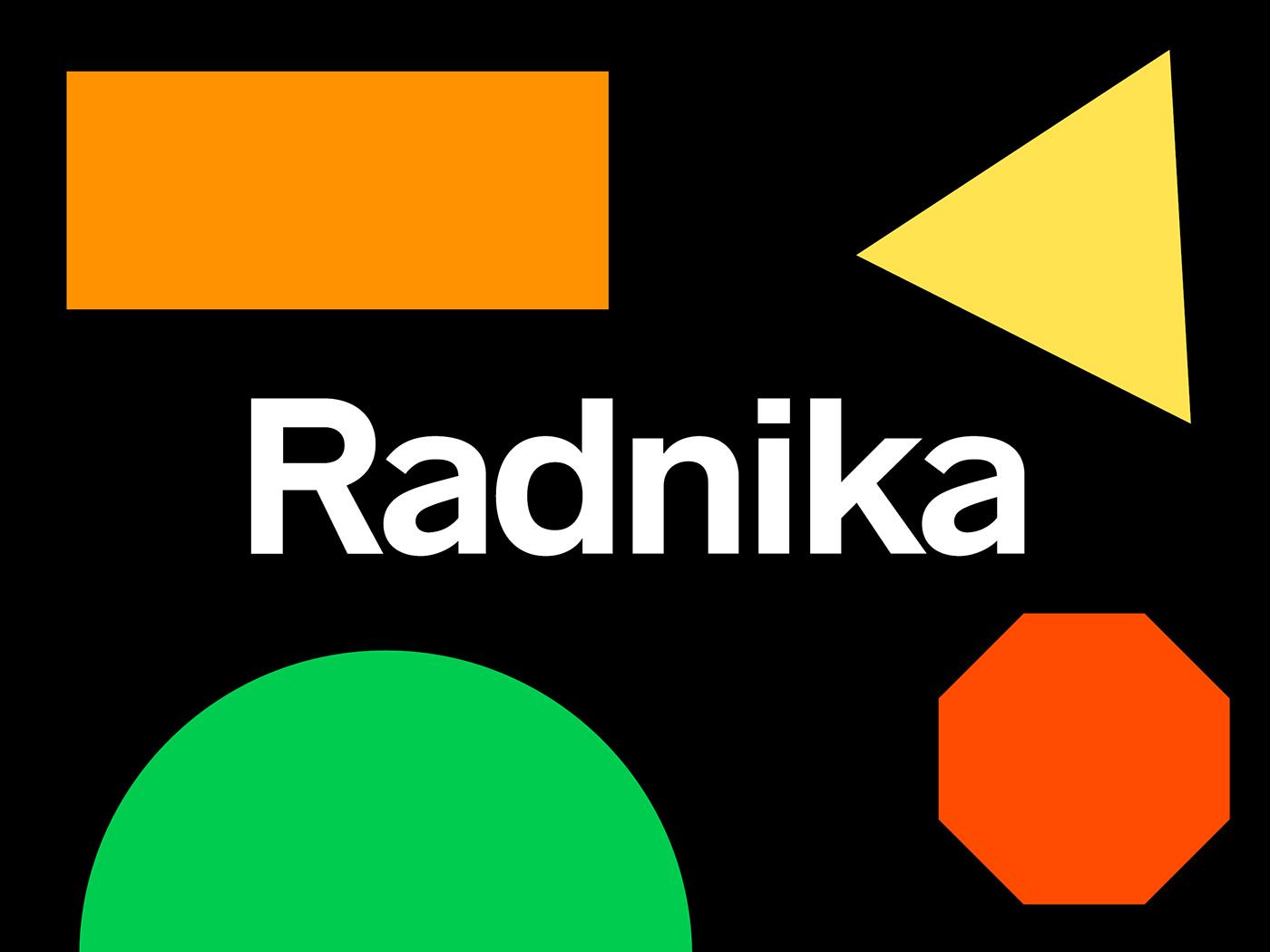 radnika gothic Workhorse sans serif Typeface font free Trade Gothic akzidenz grotesk