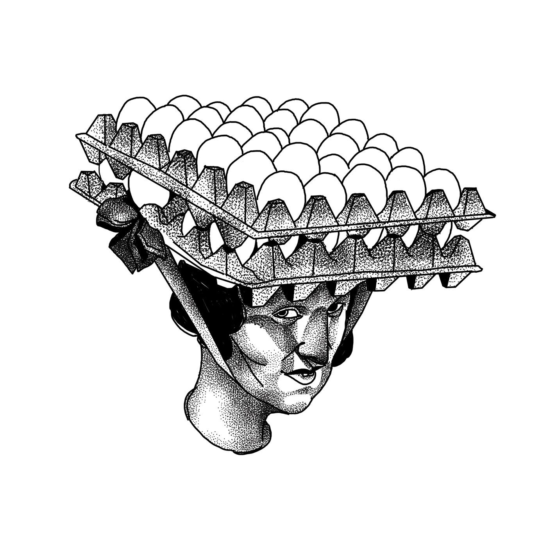 Digital Drawing dotwork Drawing  figurative graphic ILLUSTRATION  ivadimitrova linework portrait woman