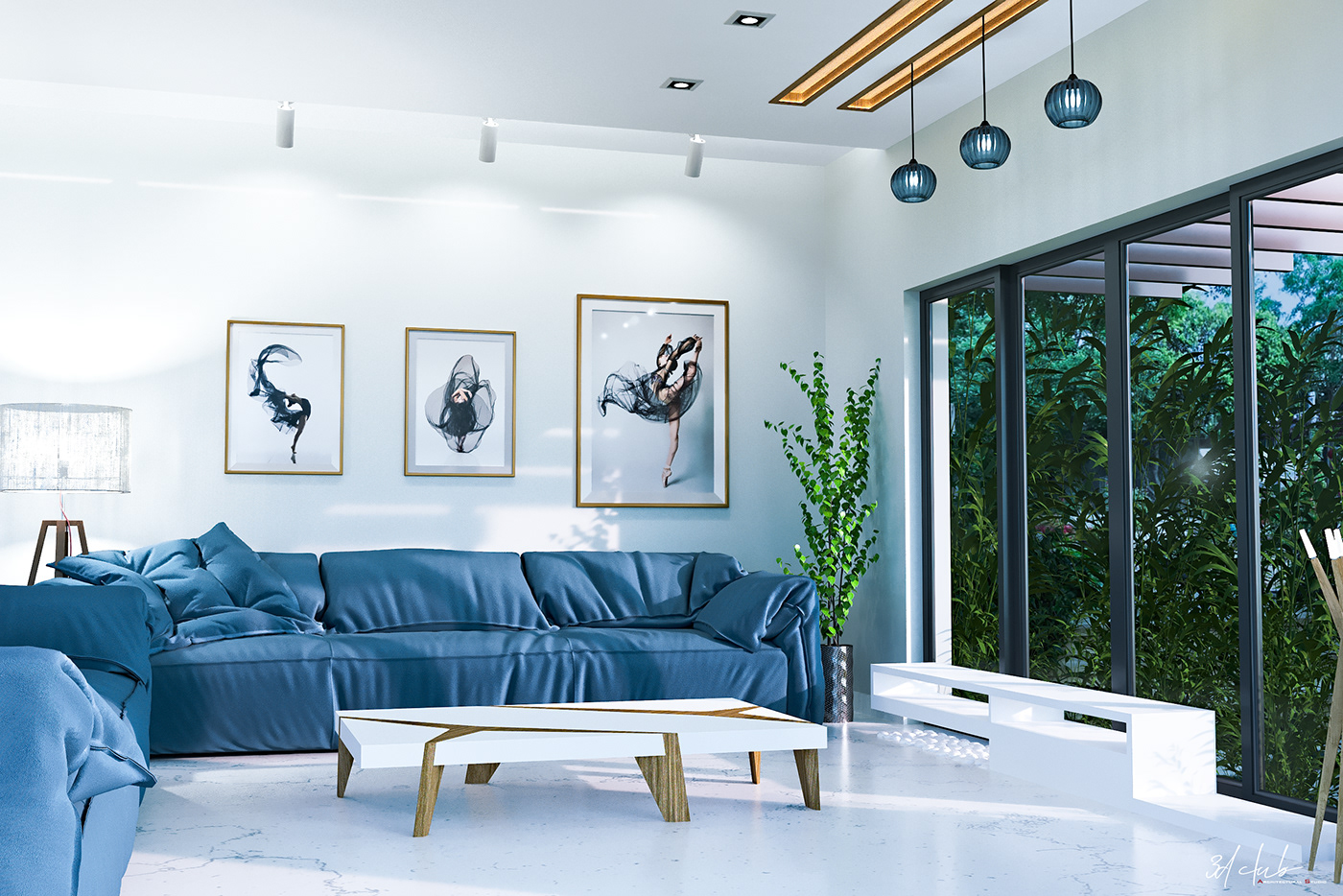 architecture corona Interior living room