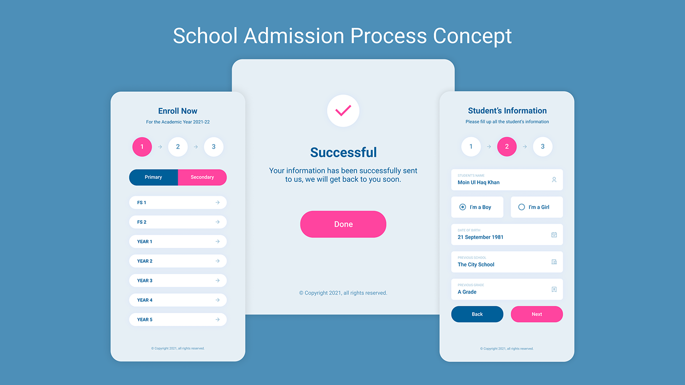 design Education process UI ux