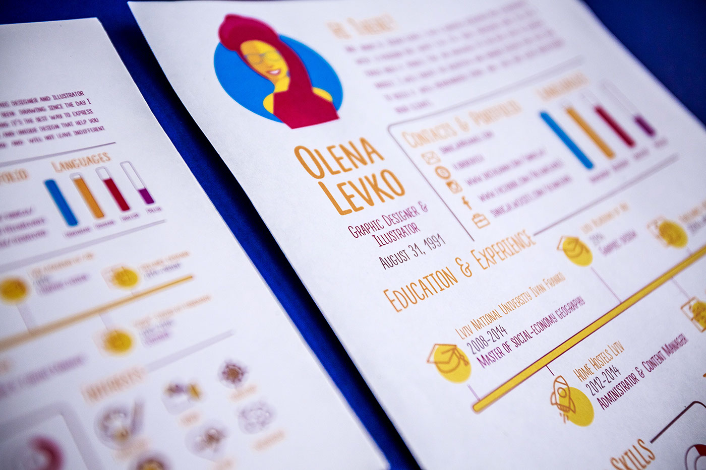 free infographic resume template on behance