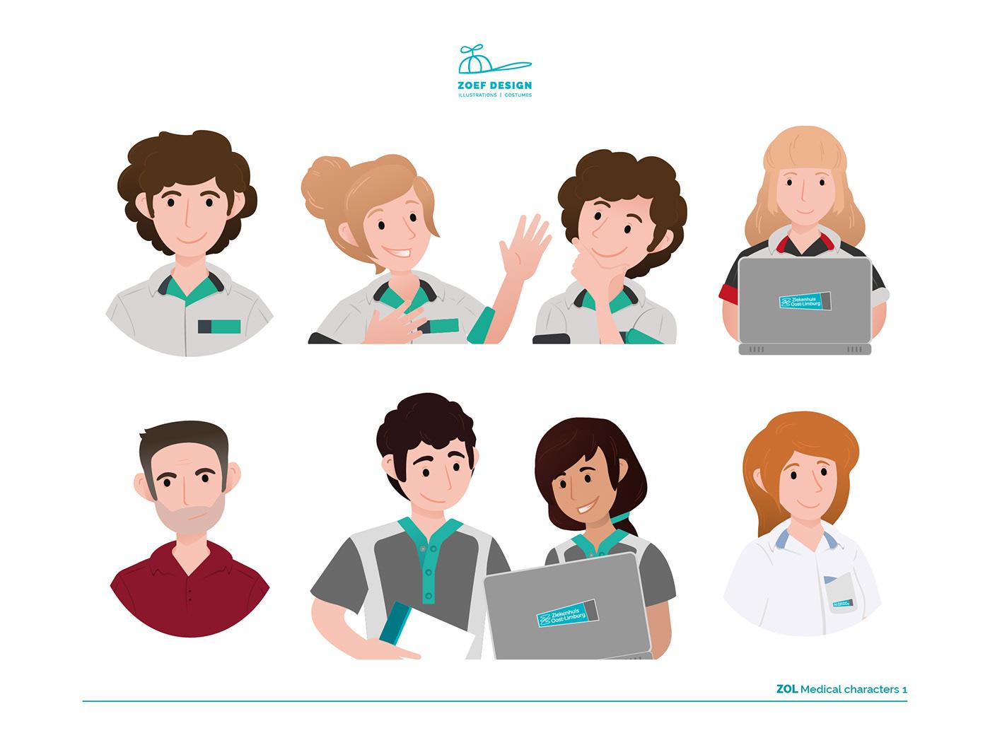 medical,hospital,Character design ,Medical Icons,nurse character,microbes,medical design