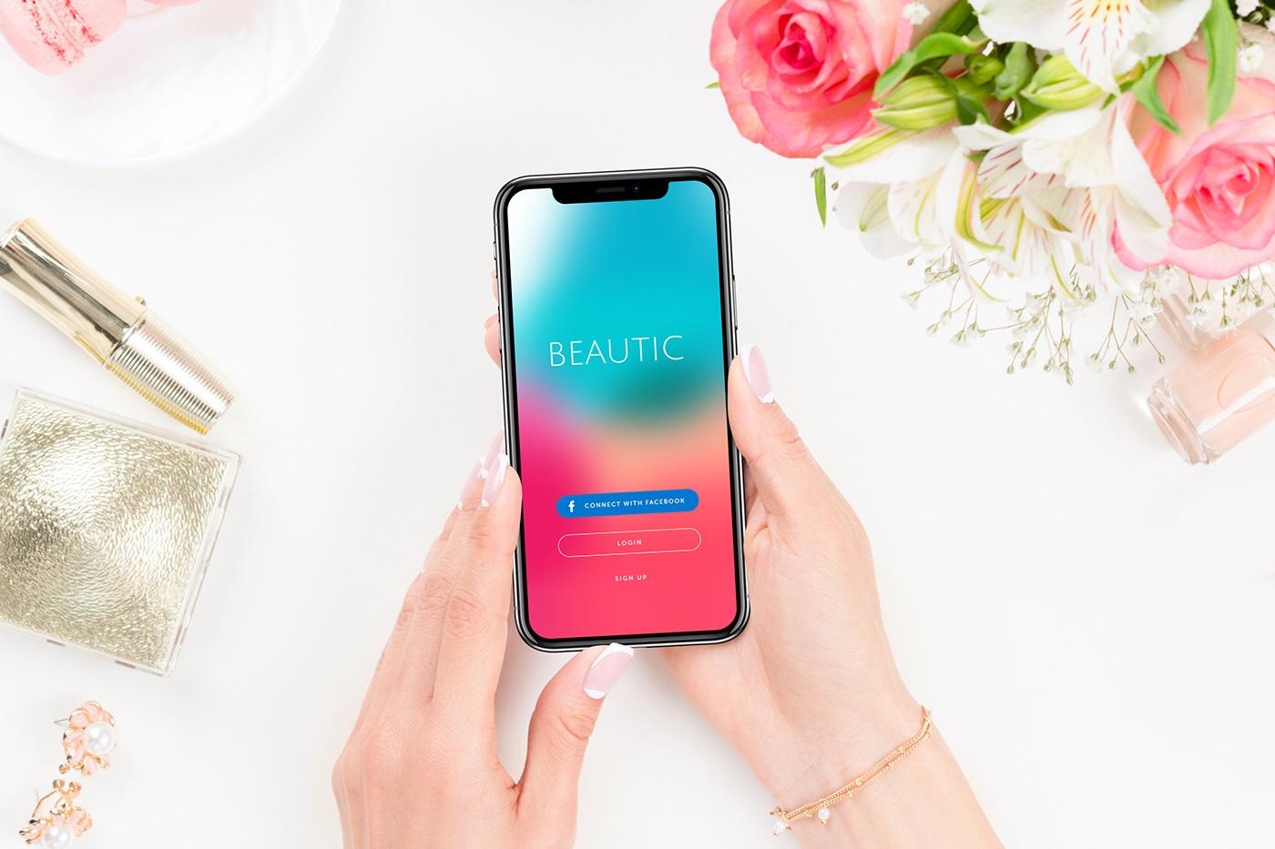 ios app mobile beauty ui ux swift