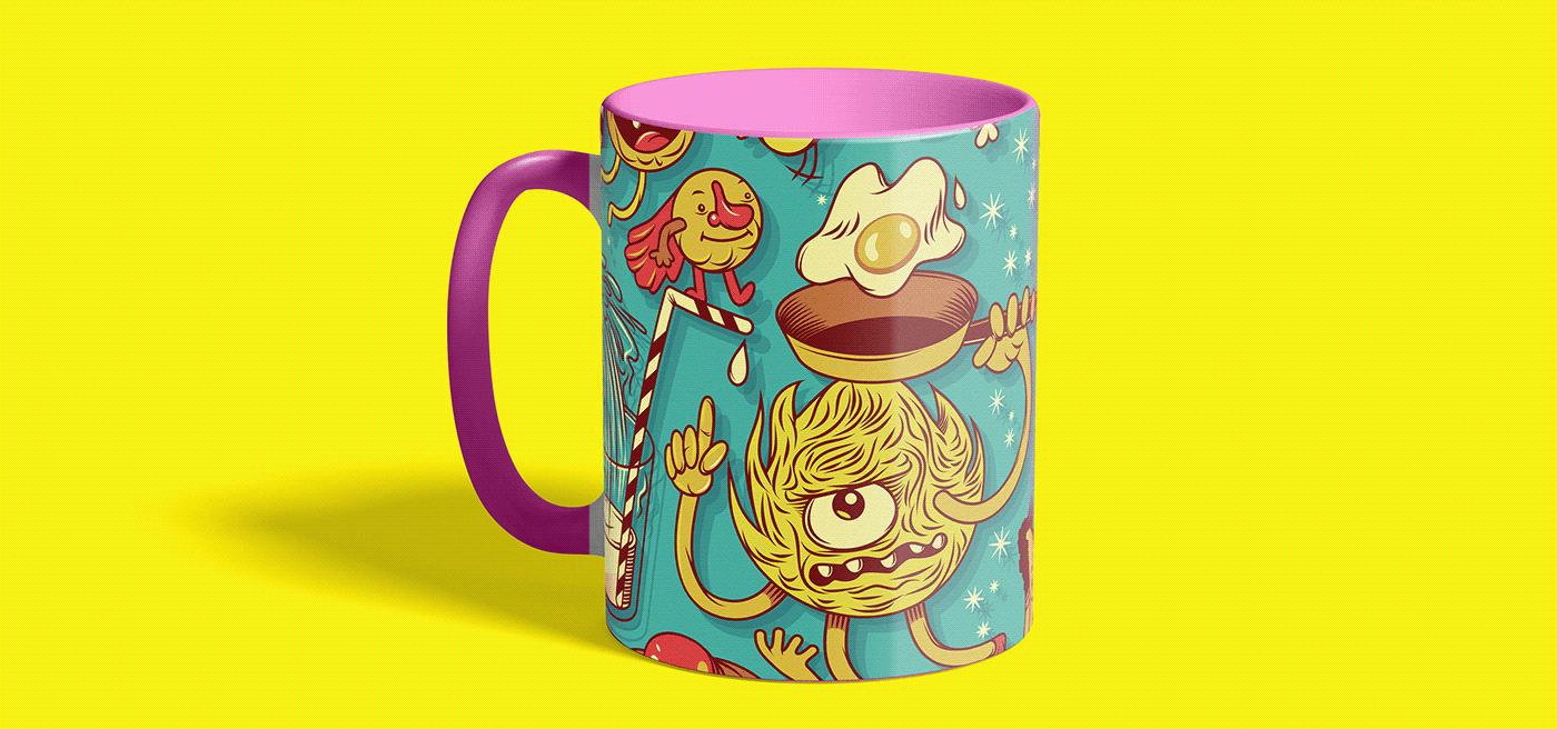 Image may contain: cartoon, mug and vessel