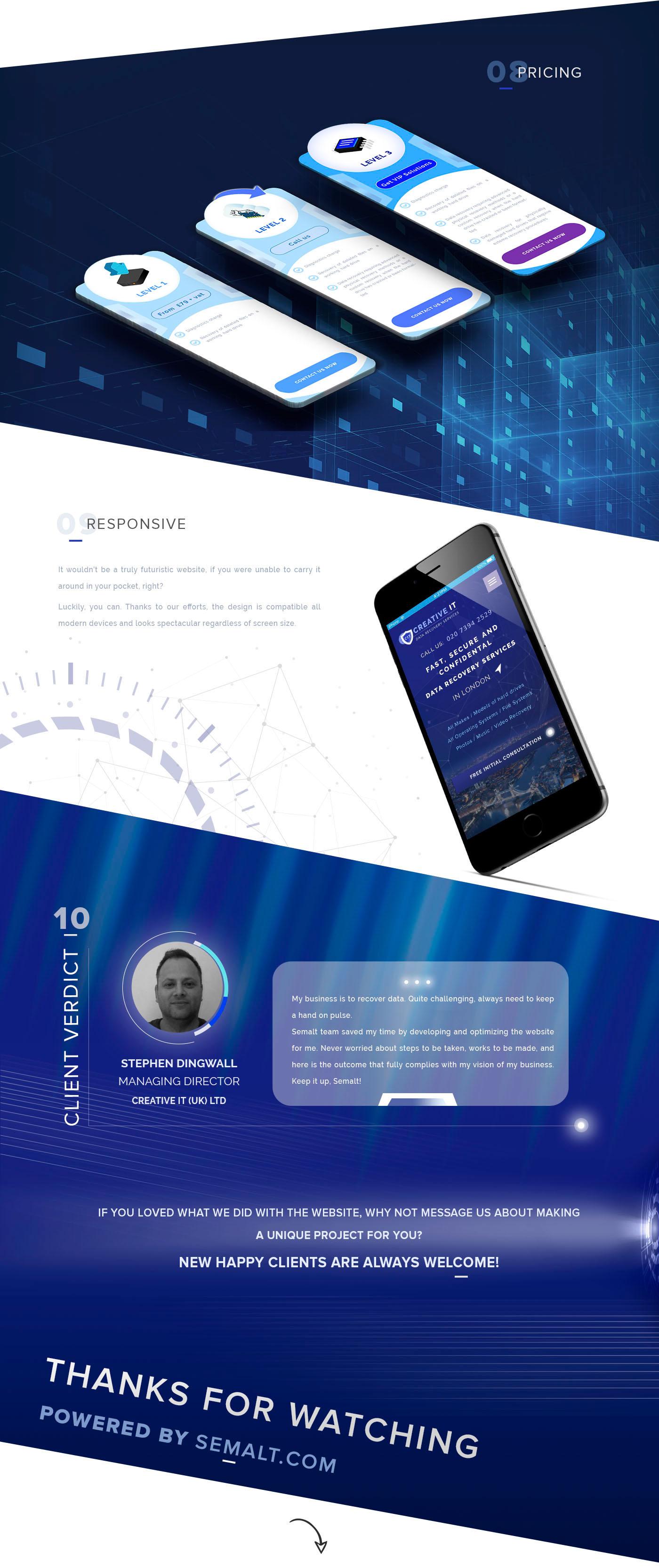 Space  star wars site ux/ui semalt technologies IT data recovery trend purple