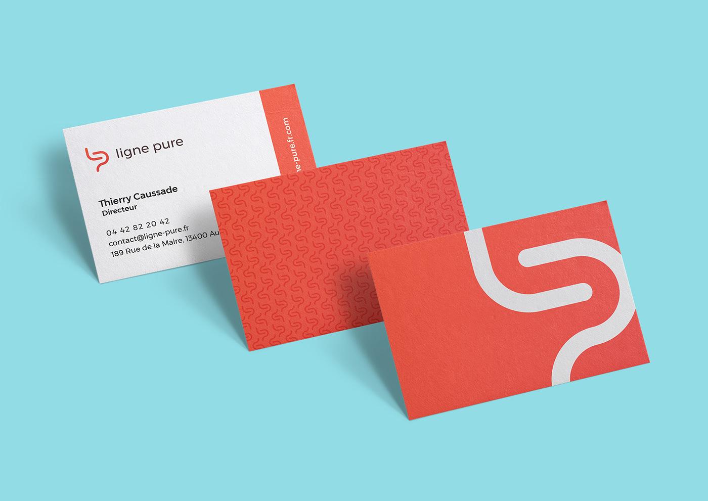 logo identity brand identité red orange monogramme monogram ébéniste
