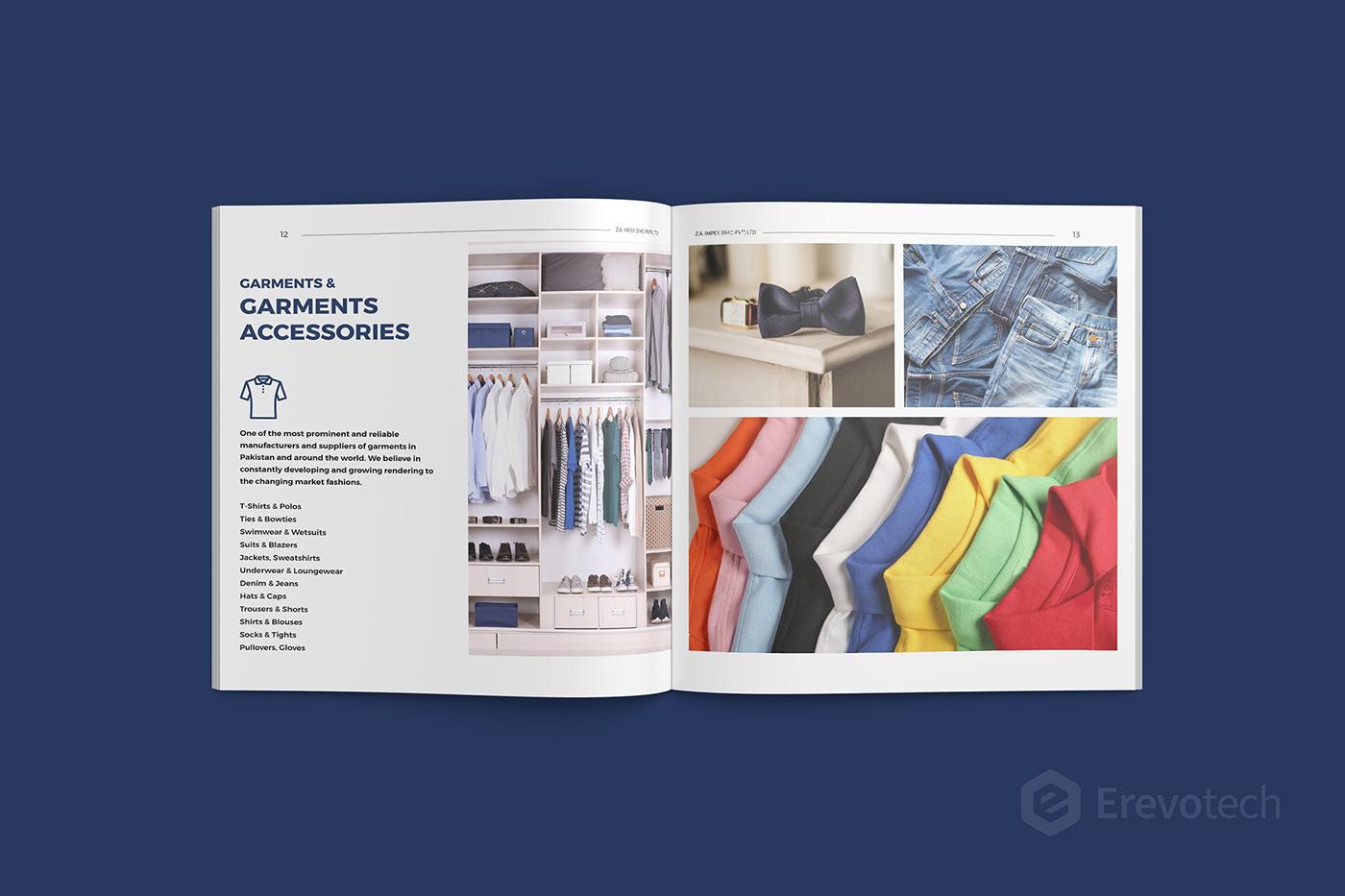 garments industry profile design