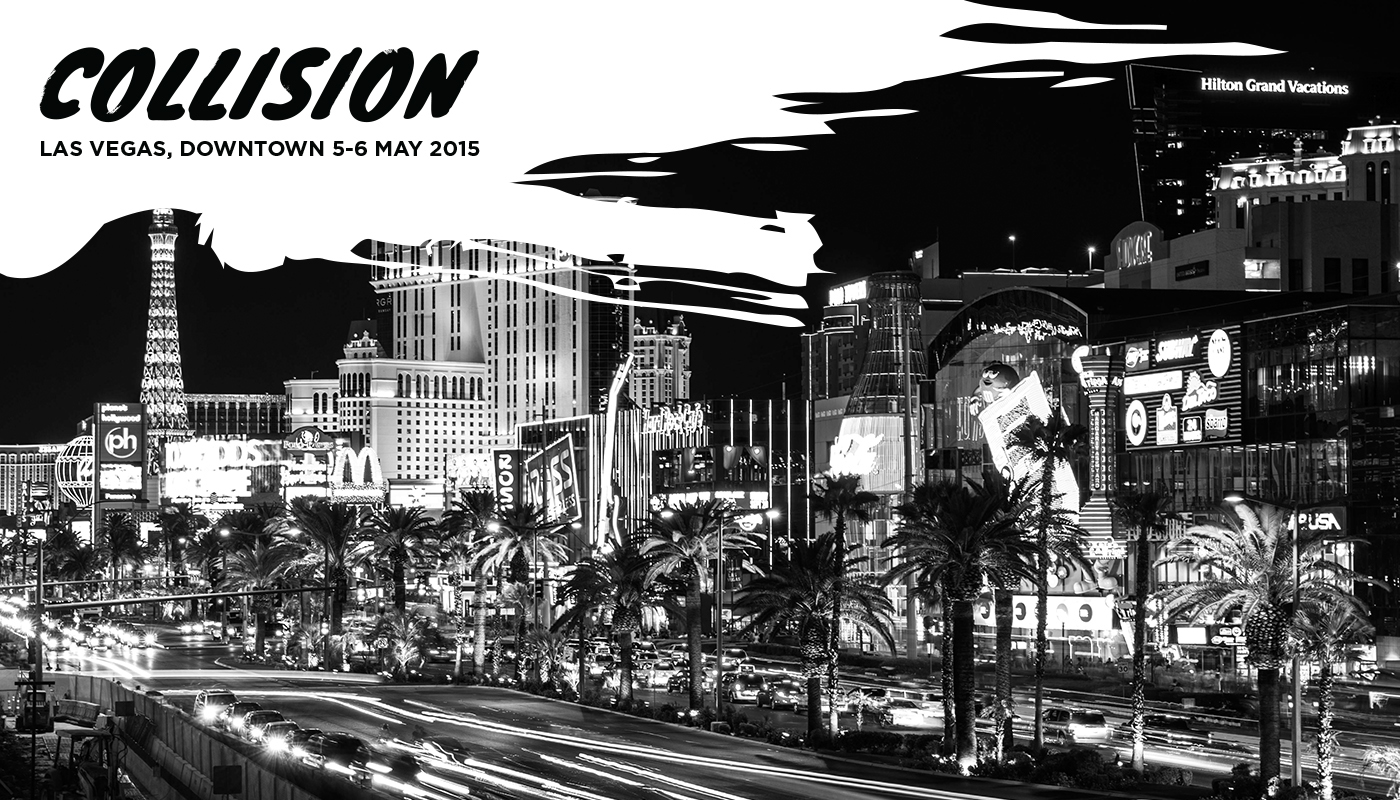 Exhibition  conference Las Vegas Collision collisionconf dynamic brand websummit modern awesome minimal black and white yellow inspire Behance