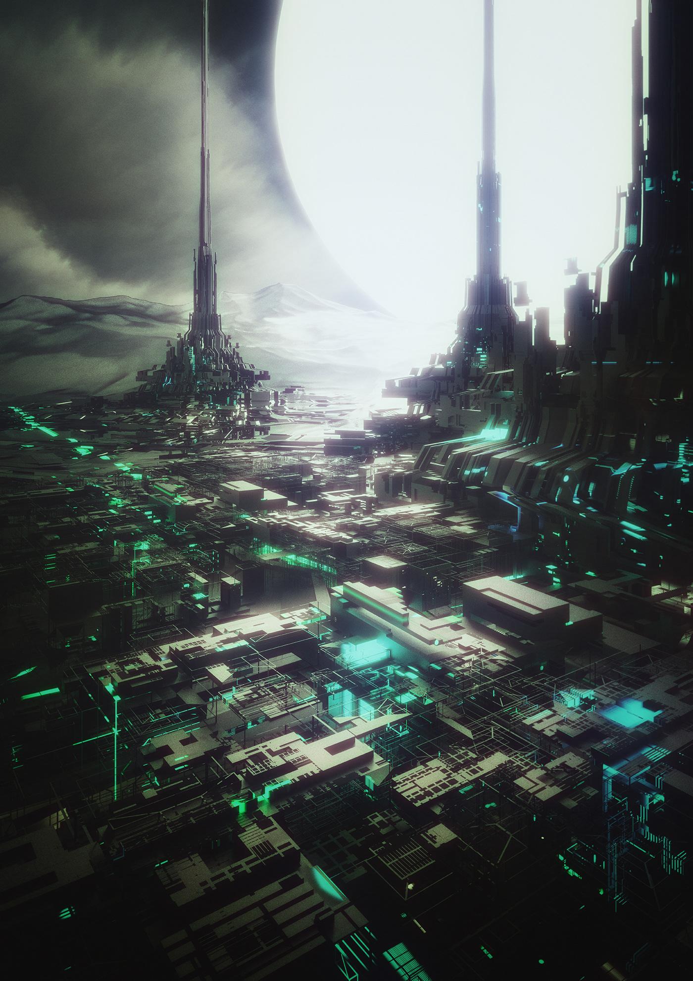 concept Scifi structures architektur Space  textures city building
