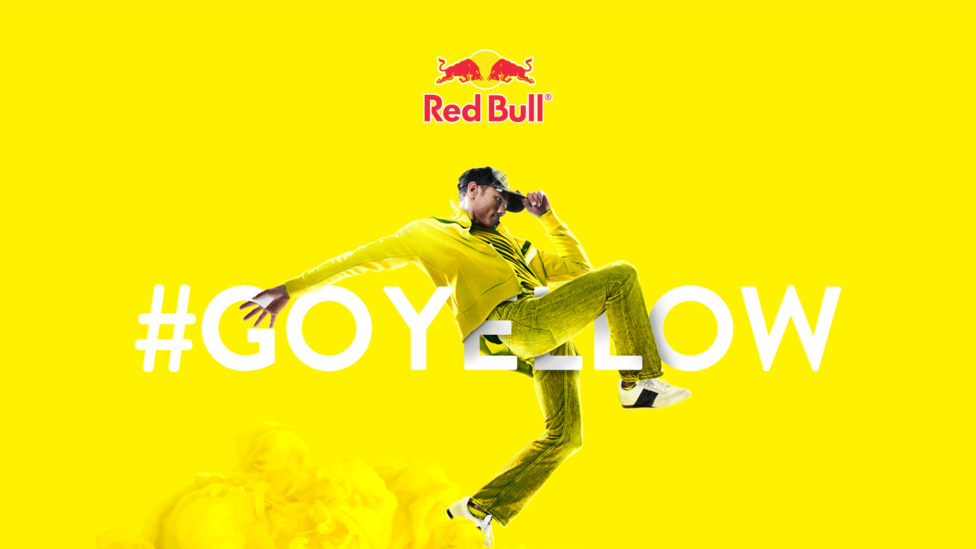 red bull yellow on behance. Black Bedroom Furniture Sets. Home Design Ideas