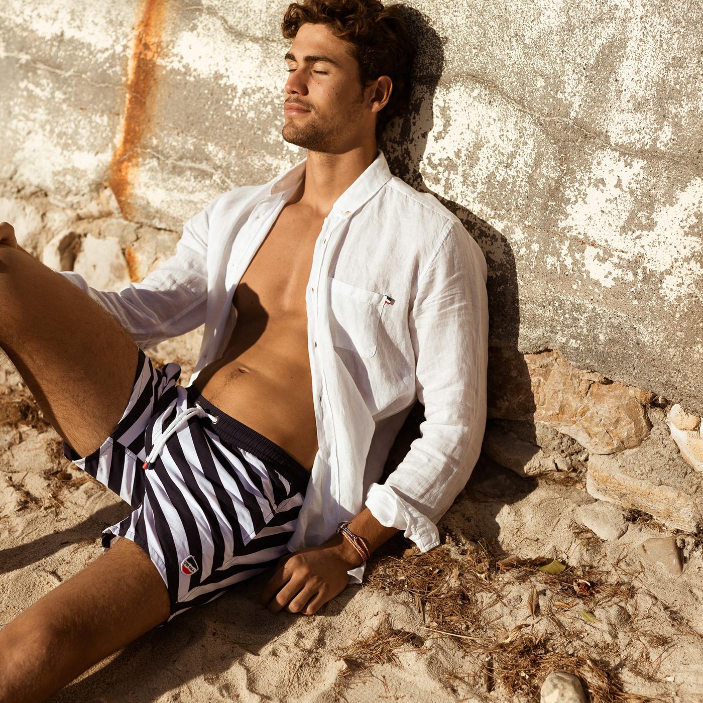 summer swimwear Riviera swimsuit male model SS19 campaign
