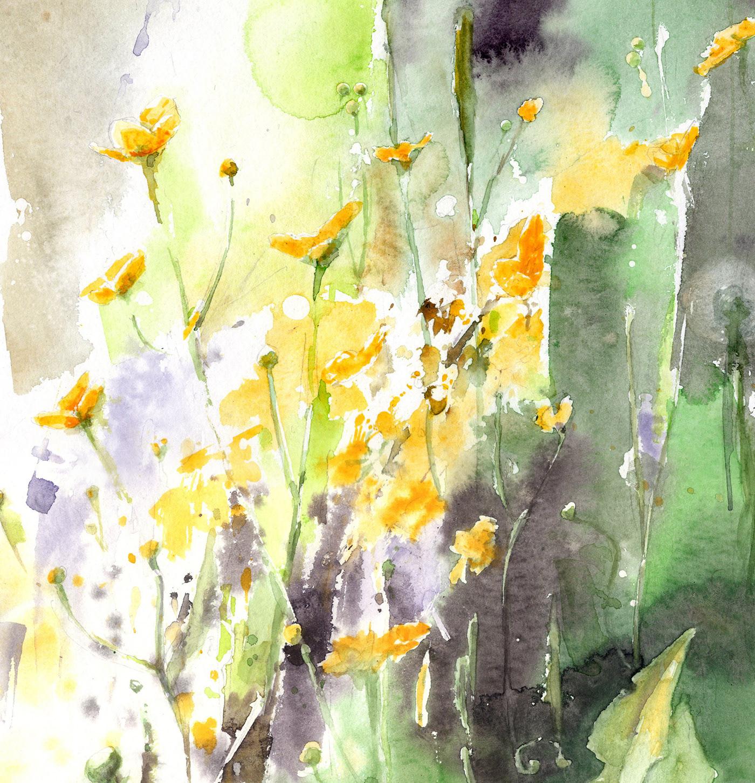 Wild Flower Field Inspirations Watercolor On Behance