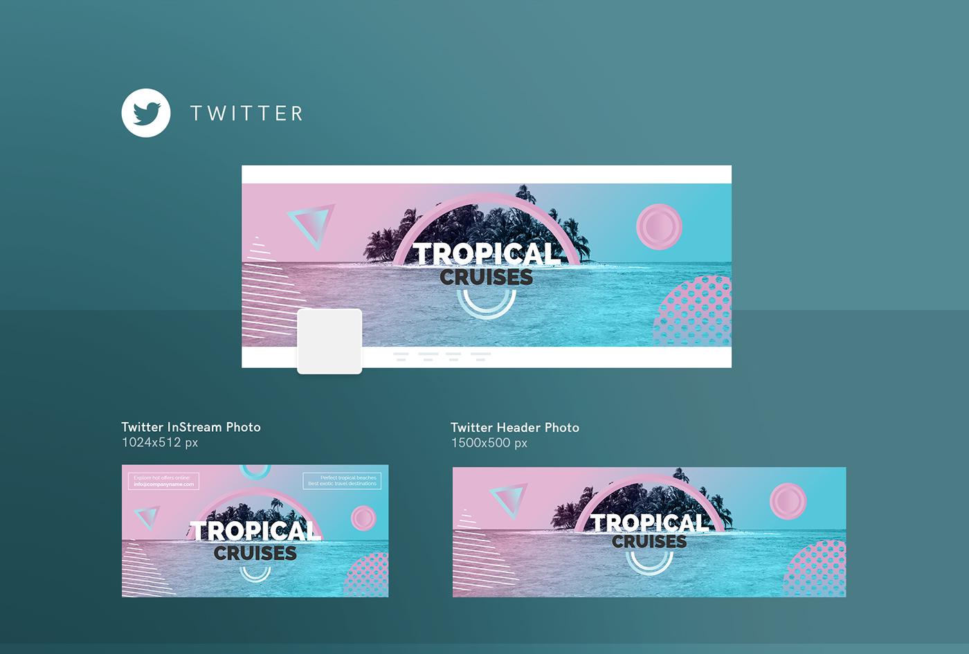 Great Twitter Banner Template Psd Photos >> Twitter Header Template ...