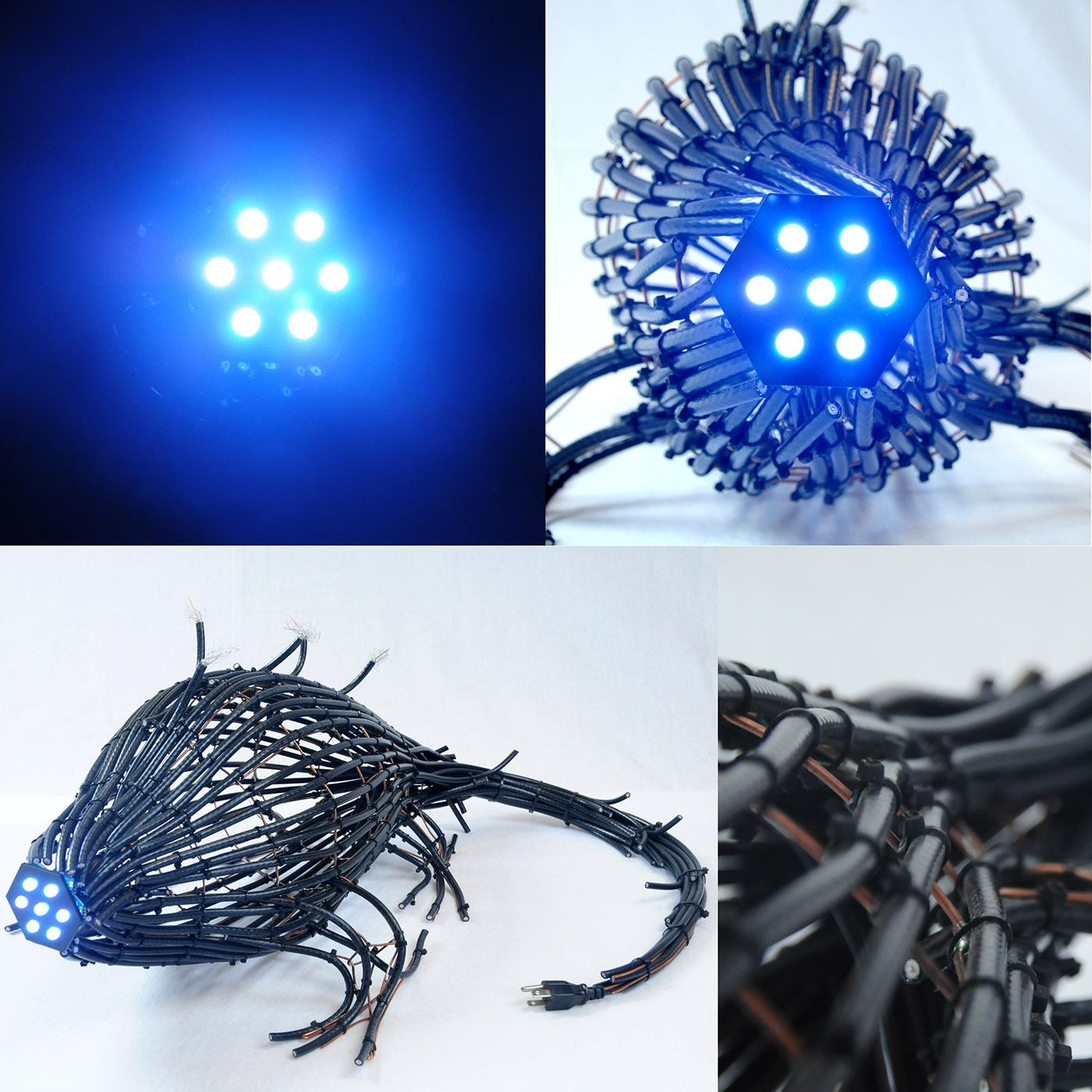 creature predator 3D sculpture