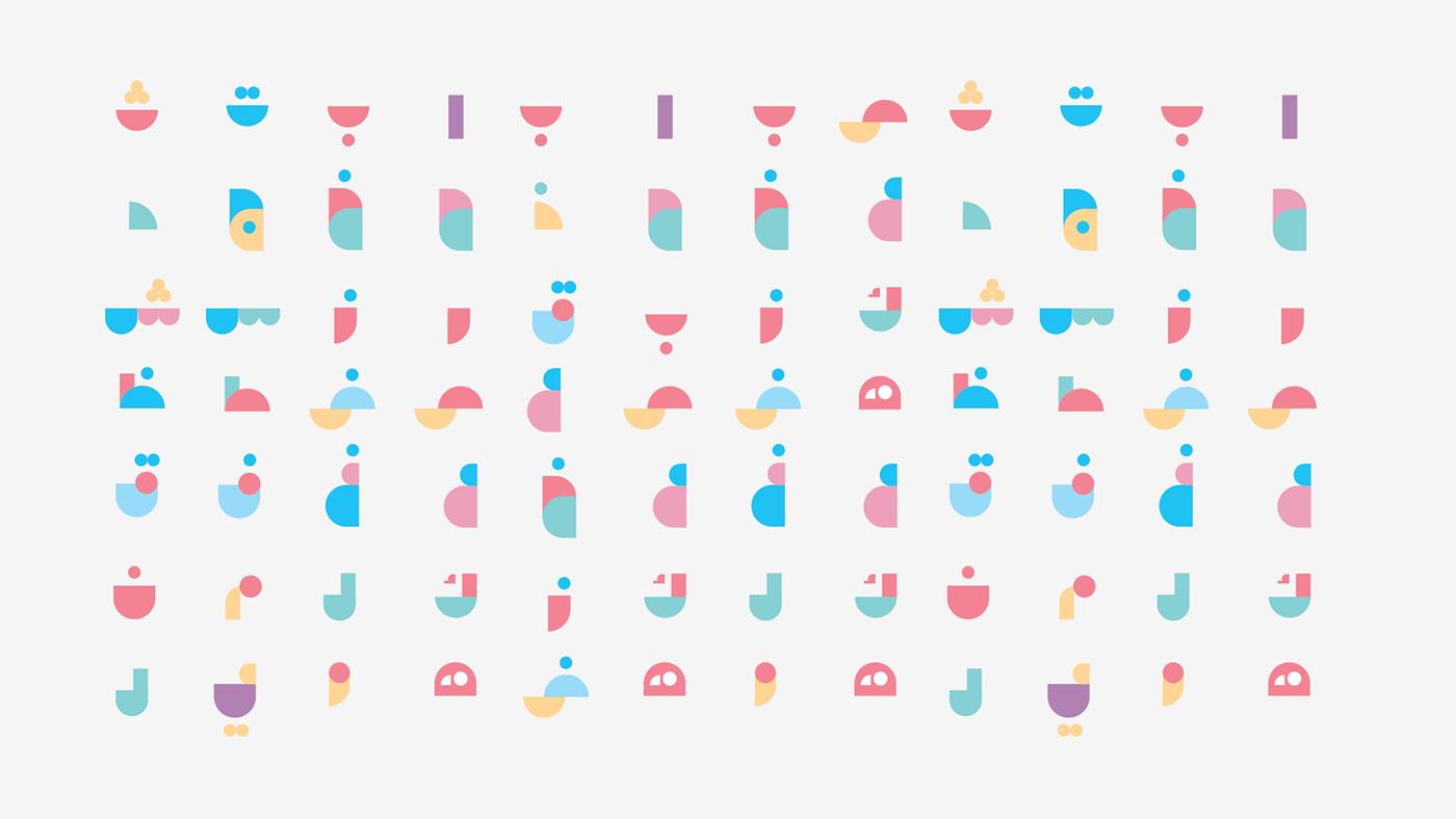 letters geometric minimal simple arabic