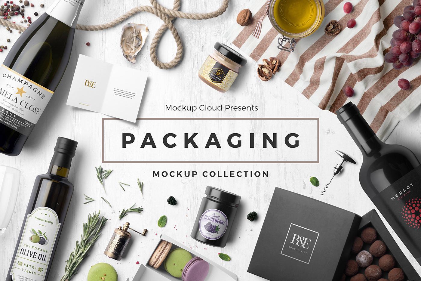 branding  Mockup Packaging template psd brand bottle box Stationery mockups