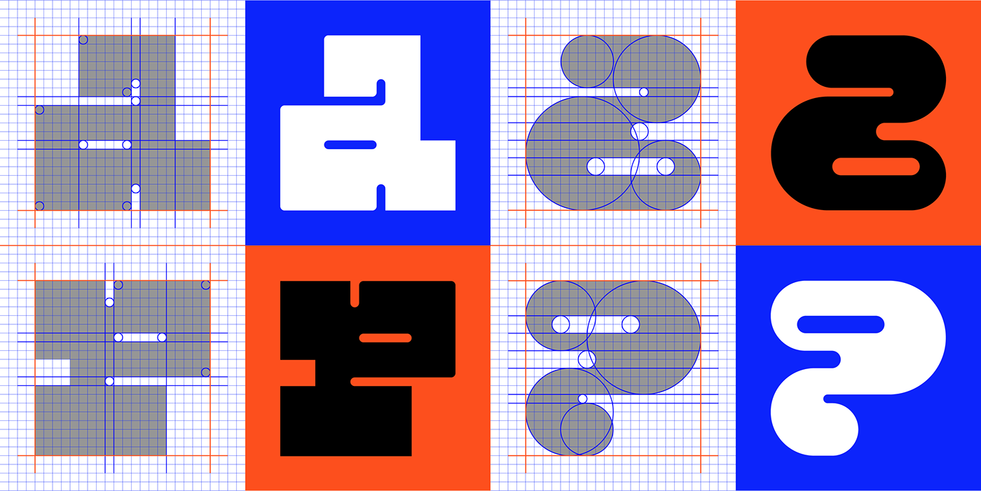 typography   branding  graphic design  logo Logotype sticker grid Typeface font Variable Font