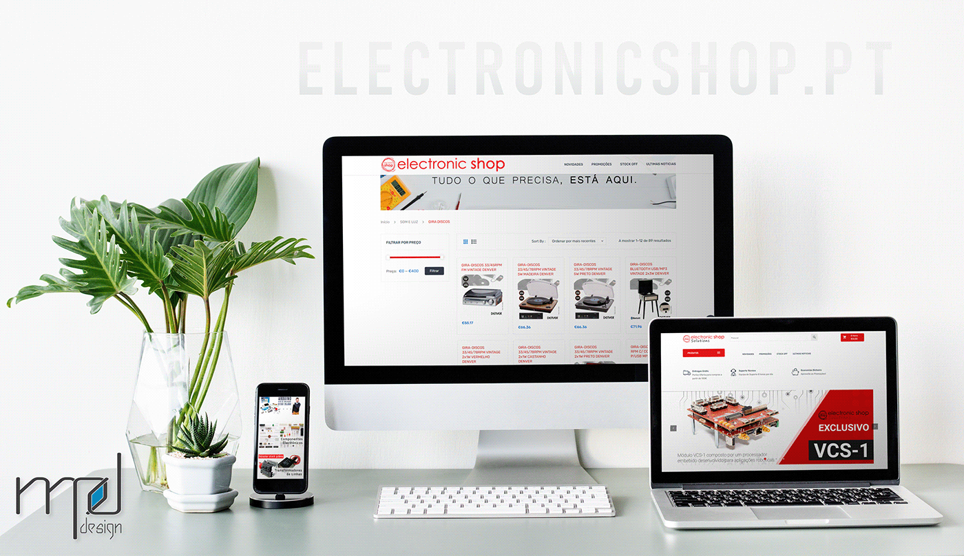 Electronicshop MPdesign Webdesign