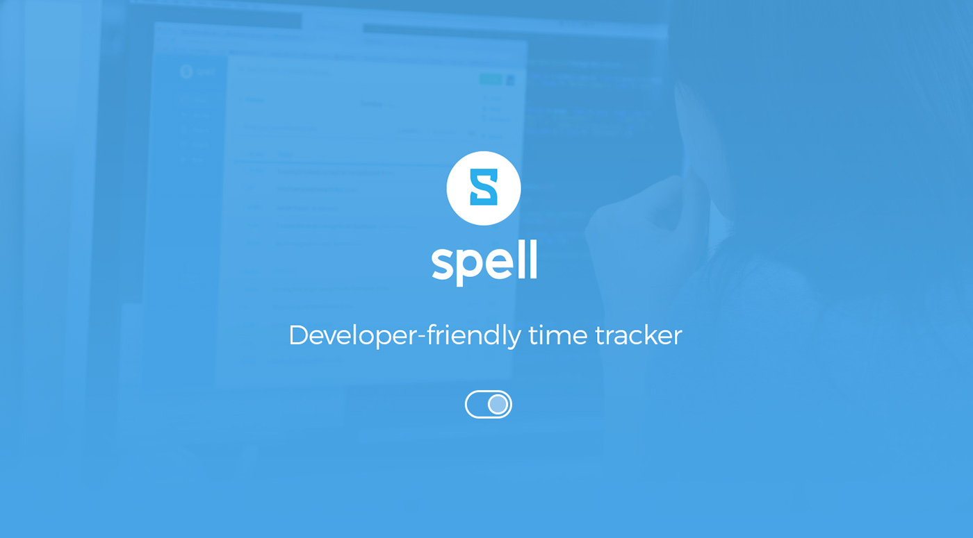 time tracker timesheet Web app application icons animated