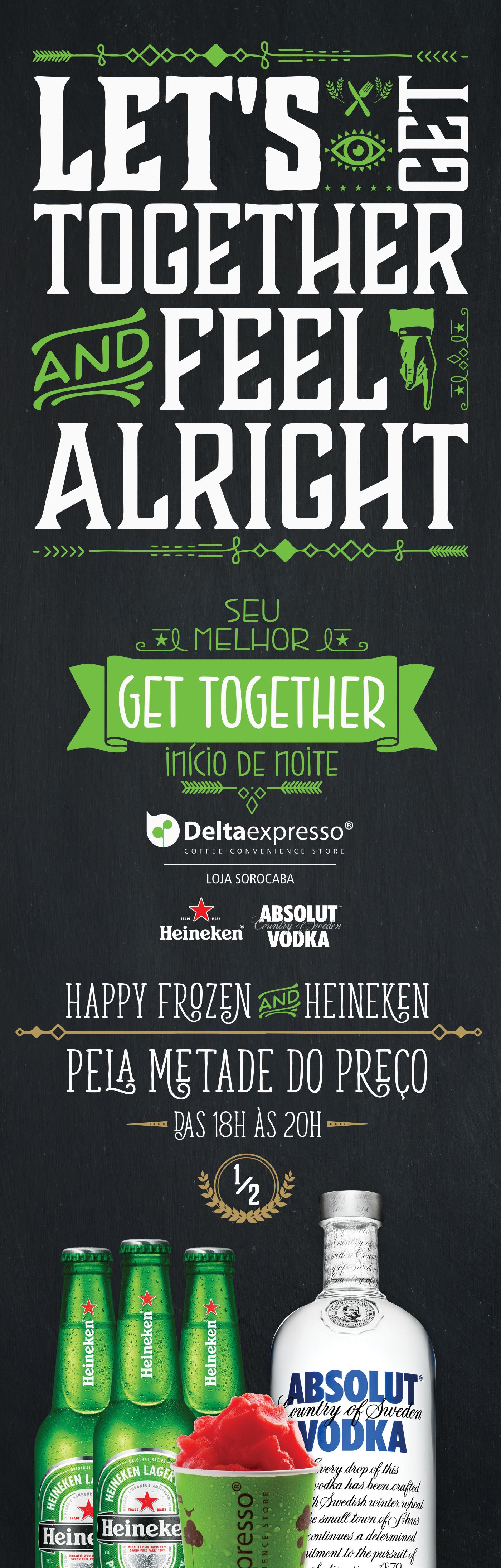 recife deltaexpresso Happy Hour GET TOGETHER heineken absolut frozen drink bar