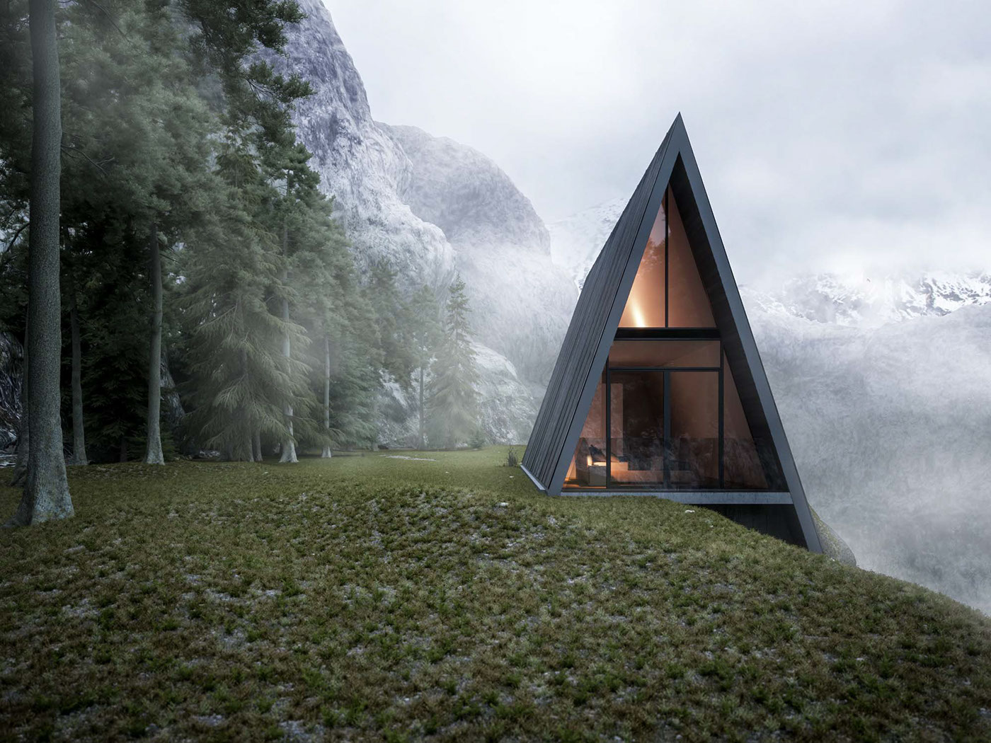 Triangle Cliff House On Behance