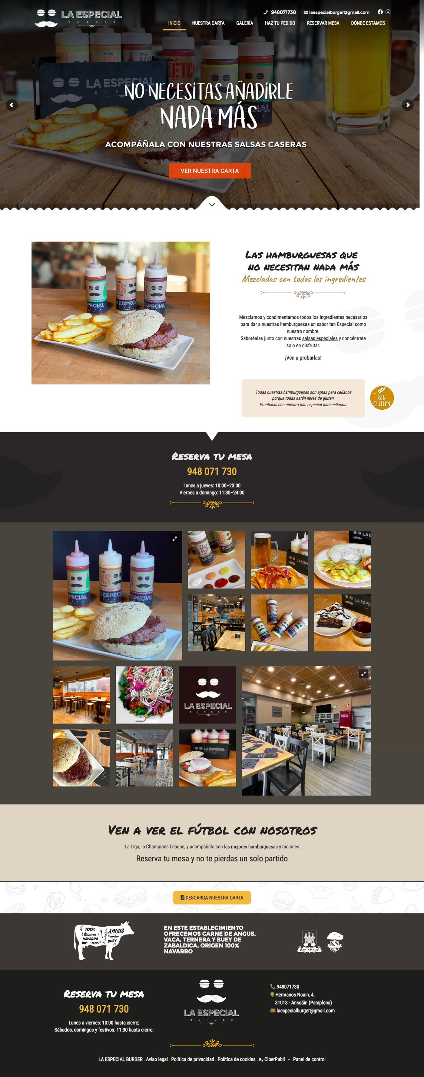 desarrollo web Diseño web Diseño Web Restaurante foto composicion retoque fotográfico ux/ui