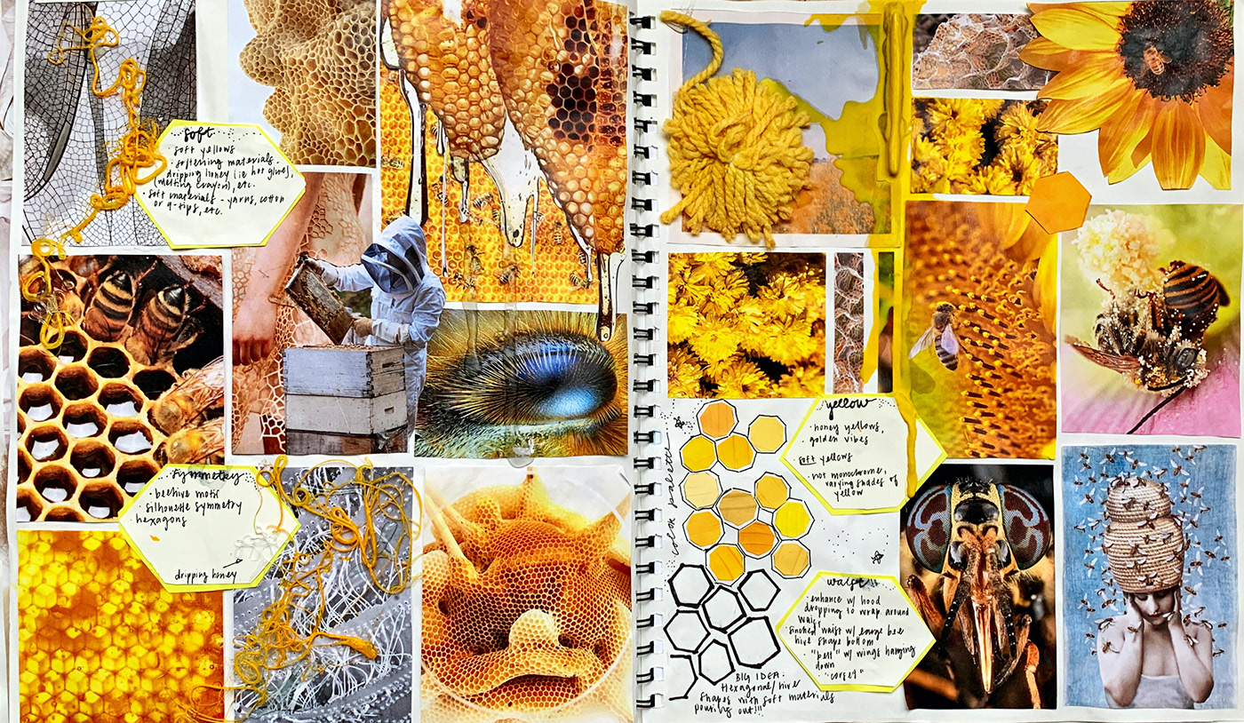 Collaging concept development Fashion  fashion design ILLUSTRATION  photoshop sketchbook Sustainability Sustainable Fashion unconventional materials