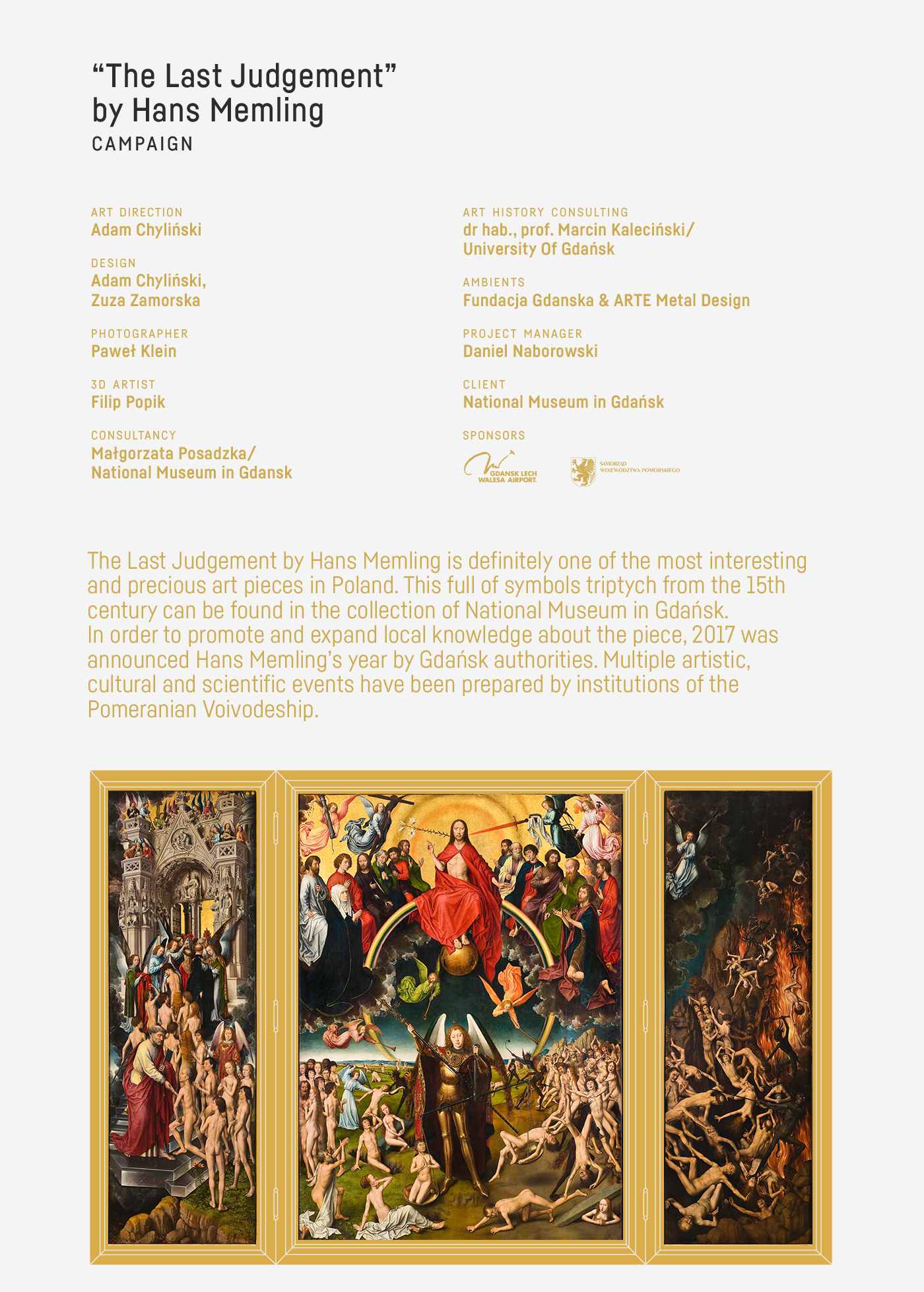 Memling painting   art museum old poland campaign typography   animation  Advertising