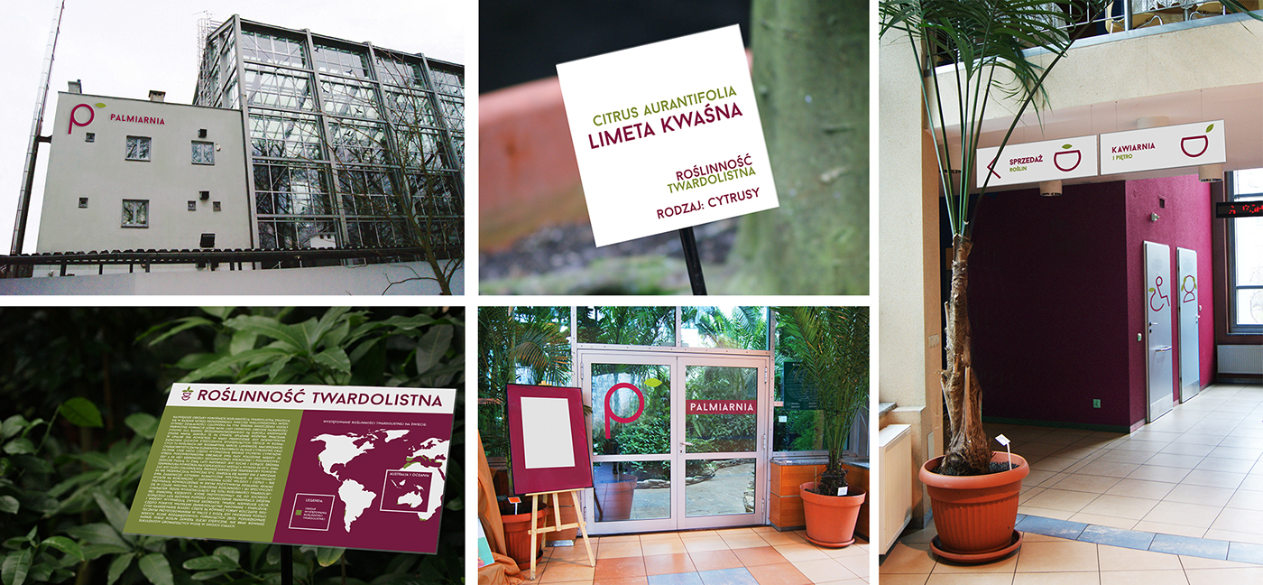 Palm House In Lodz The Wayfinding System On Behance